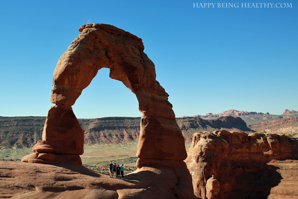 Me and the fam at Delicate Arch