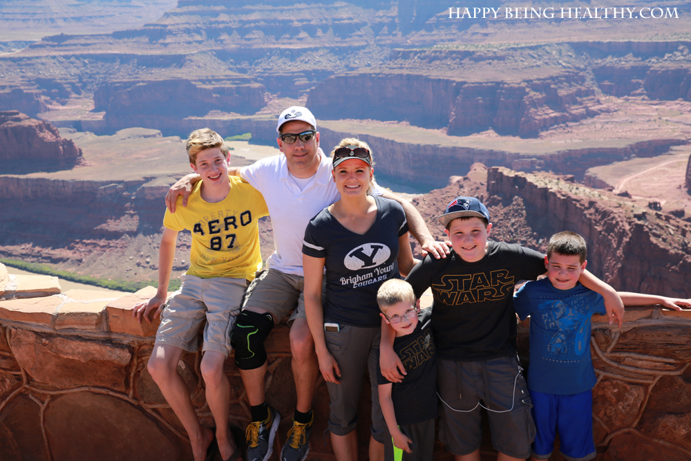 The fam at Dead Horse Point