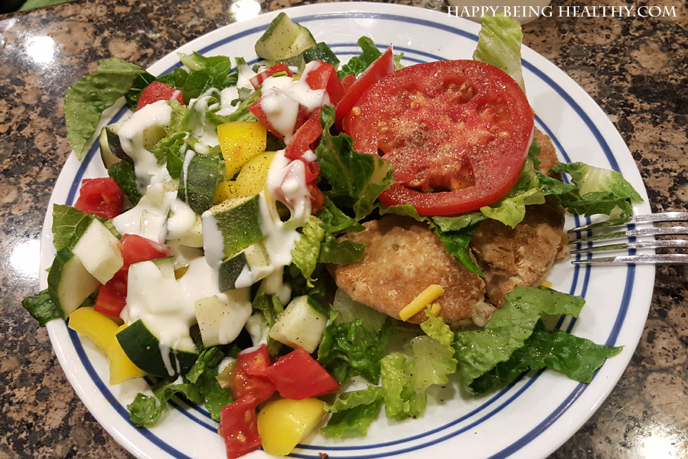 salad-and-turkey-burger